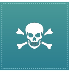 Skull and crossbones icon isolated vector