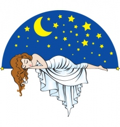 sleeping lady vector image