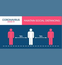 Social distancing sign avoid covid-19 vector
