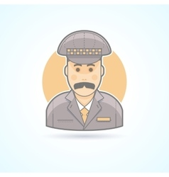 Taxi driver cabbie icon vector
