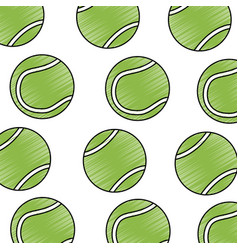 tennis ball sport seamless pattern vector image