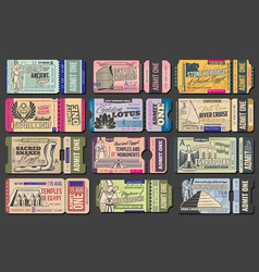 Tickets to ancient egypt landmarks and sightseeing vector