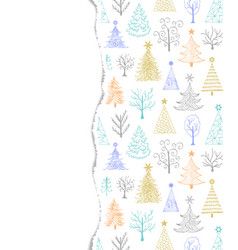 torn paper with trees vector image
