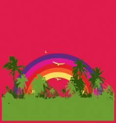 tropical rainbow vector image