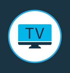 Tv icon colored symbol premium quality isolated vector