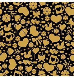 Valentine day seaml gold vector
