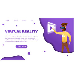 virtual reality web banner vector image