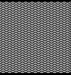 Wavy zig zag jagged lines repeatable monochrome vector
