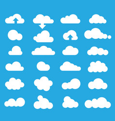Weather clouds icon set vector