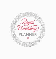 wedding planner logo design vector image