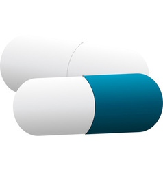 White and blue pills vector