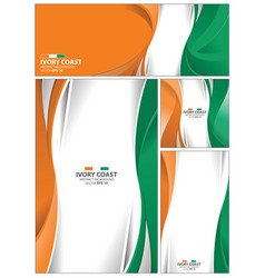 Abstract ivory coast flag background vector