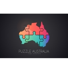 Australia logo Puzzle Australia Creative logo vector image vector image