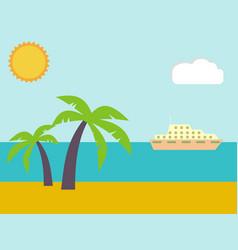 sand on the summer beach near the tropical sea vector image vector image