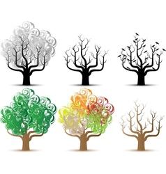 TREE HELLOWEEN AND SEASON SERIES vector image