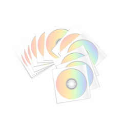 compact disc archive isolated on the white vector image
