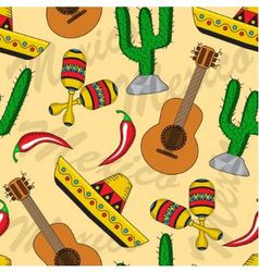 Mexican seamless background vector image vector image