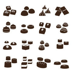 sweet chocolate truffles styles icons set eps10 vector image vector image