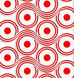 White colored paper red spools vector image vector image