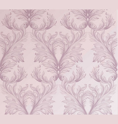 baroque pattern background ornament decor for vector image vector image