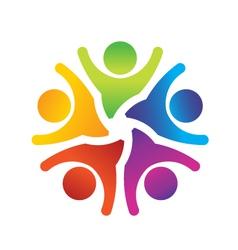 Optimistic Teamwork logo vector image vector image