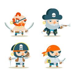 pirate buccaneer filibuster corsair sea dog vector image vector image