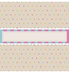 retro polka dot with banner vector image