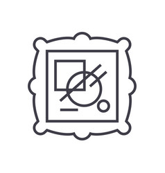 fine art line icon sign on vector image
