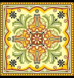 floral square ornament vector image