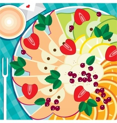 Fruit platter vector image