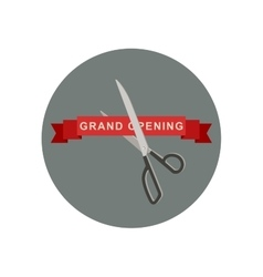 Grand Opening icon with scissors vector image vector image