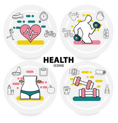 healthy lifestyle concept vector image