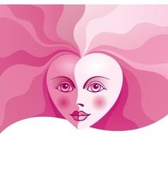 Heart face vector