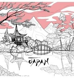 Japan Landscape Background vector image