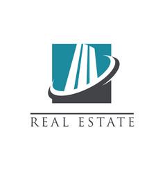 Modern building logo icon vector