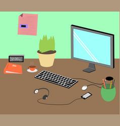 Office desktop vector