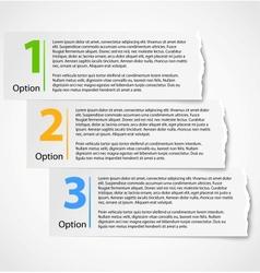 Torn paper progress option background vector image vector image