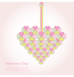 Valentine decorative love heart vector image vector image