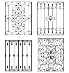 wrought iron vector image vector image