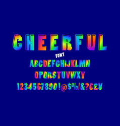 abstract color font and alphabet vector image