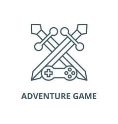 Adventure game line icon outline concept vector