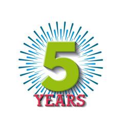 anniversary banner design vector image