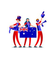 Australian flag australia people vector
