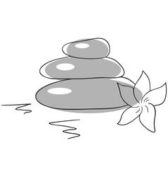 Balancing stones vector image