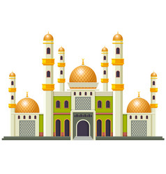 beautiful mosque with good design vector image