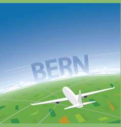 Bern flight destination vector