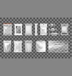 big set of transparent empty plastic packaging vector image