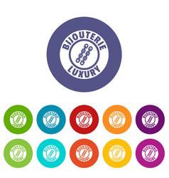 bijouterie luxury icons set color vector image