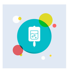 blood test sugar test samples white glyph icon vector image