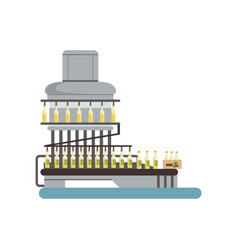 bottling of olive oil equipment oil production vector image